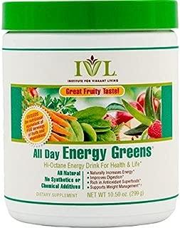 Institute for Vibrant Living All Day Energy Greens?de??d??? Fruit Flavor Hi-Octane Energy Drink For Health & Life Great Fruity Taste - 10.5 oz by Institute for Vibrant Living
