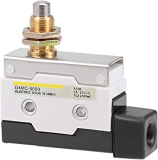 uxcell D4MC-5000 Roller Plunger Micro Limit Switch Momentary Panel Mount 1NC 1NO 7310