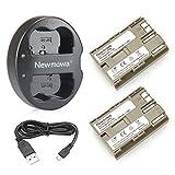 Newmowa Double USB Chargeur + 2 Remplacement Batteries BP-511 pour Canon BP-511...