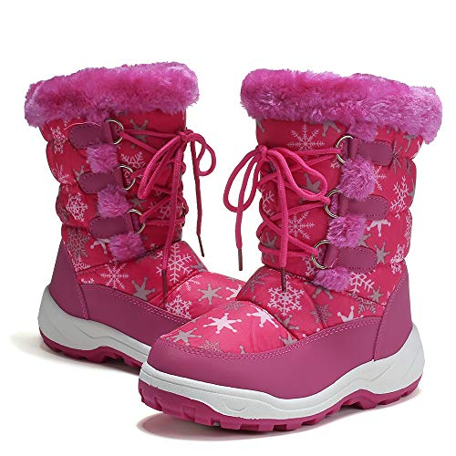 DRKA Boy's and Girl's Toddler Snow Boots with Fur Lined, Waterproof and...