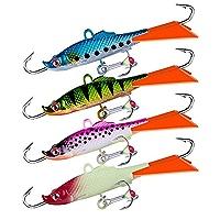 37 HT Glow In The Dark Marmooska Ice Fishing Jigs Size 10 Off Set Hook Crappie!!