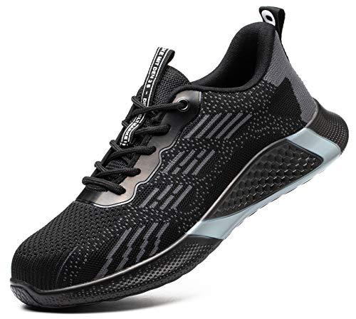 SUADEX おしゃれ 軽量 あんぜん靴 安全靴 黒 安全スニ一カ一 作業靴 工事現場 作業靴 通気性 鋼先芯 耐摩耗 防刺 耐滑ソール アウトドア ワークシューズ セーフティーシューズ スニーカー