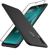 ebestStar - kompatibel mit Samsung Galaxy A50 Hülle SM-A505F Kohlenstoff Design Schutzhülle, TPU Handyhülle Flex Silikon Hülle, Schwarz + Panzerglas Schutzfolie [A50: 158.5 x 74.7 x 7.7mm, 6.4'']