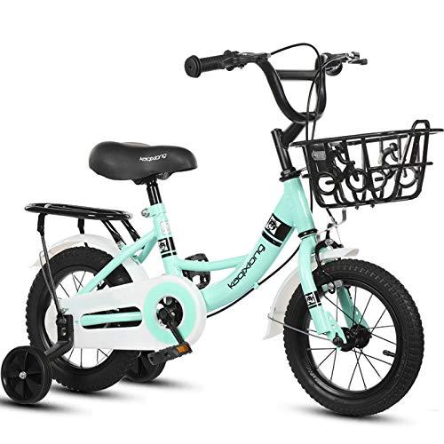 GAOLIQIN Bicicleta Ligera para Niños, para Niños Y Niñas, 12