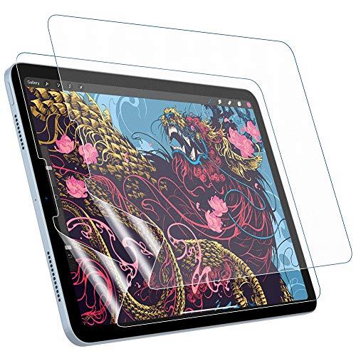 MoKo 2 PACK Like Paper Screen Protector Fit iPad Air 4th Generation 2020 New iPad 10.9 in 2020, iPad Pro 11 2018/2020, Anti-Scratch Anti-Glare Bubble-Free PET Film Support Apple Pencil - Matte