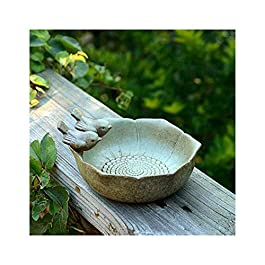 LFDHSF Ceramic Bird Baths Garden Decor Birds Feeder Outdoor Ceramic Aquarium Retro Finish Bird Feeder
