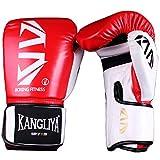 FitTrek Guantoni da Boxe - Boxing Gloves 6oz 8oz 10oz 12oz - Guanti da Box per Sparring, Muay Thai, Formazione, Sacco da Boxe, MMA, Kickboxing Uomo Donna Bambini