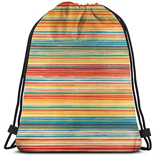 Arvolas Turnhalle Kordelzug Taschen Bunte Streifen Tapete String Pull Bag String Rucksack Durable Cinch Taschen Tragbare Sporttasche