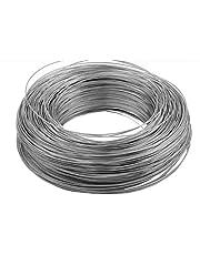 1 – 100 metros de alambre de muelle de 0,3 – 7 mm de diámetro, acero duro, alambre de acero para manualidades, alambre de jardín