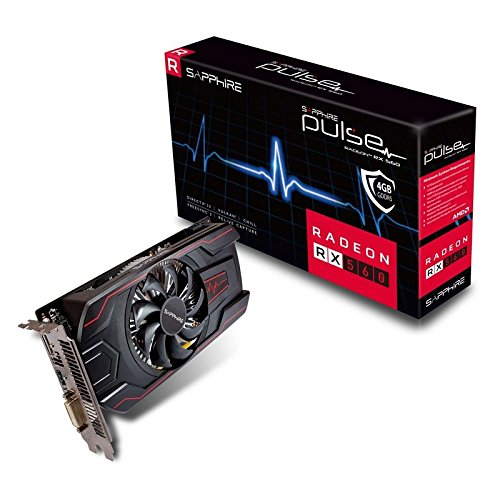 Sapphire Pulse RadeonTM RX 560 4G GDDR5 HDMI/DVI-D/DP OC Graphics Card (11267-18-41G)