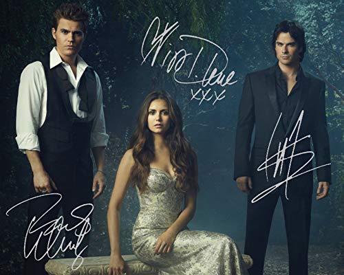 DS The Vampire Diaries - Paul Wesley & Nina Dobrev & Ian Somerhalder Signiert Autogramme 21cm x 29.7cm Plakat Foto