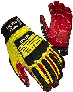 (Medium/9) - Cestus Tow Grip SC-M Palm Impact Glove, Cotton, Medium/9, Yellow, Pair