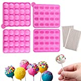 2 Packs Silicone Cake Pop Mold + 240 Sticks, BPA Free Baking Mold for Candy Chocolate Lollipop Dessert Cupcake Cooker