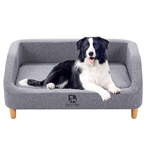 Bonzy Home Dog Sofa Bed - Pet Dog Sofa Bed,Pet Living Room Chair Removable and Washable Seat Cushion for Dog Cat and Other Animals