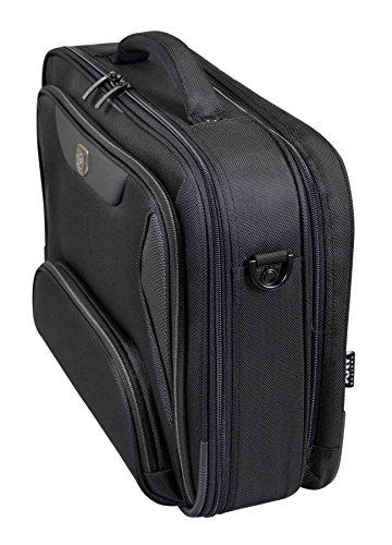 Port Designs Manhattan Clamshell & Backfile Black Notebook Laptop Travel Business Bag for 15.6 Inch Windows/Dell/HP/Lenovo/Macbook Laptops