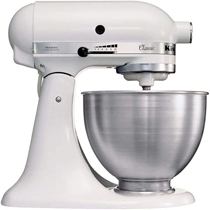 robot da cucina classico 10 velocità  4.3 l bianco 36x37x23cm kitchenaid 5k45ssewh