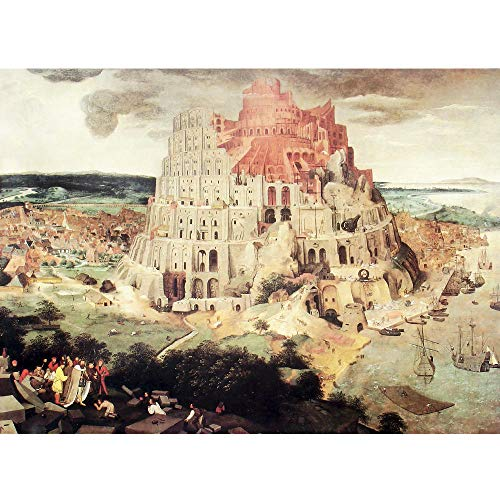 SiJOO Lernspielzeug Altmeister Ölgemälde Puzzle Babylon Tower 1000 Teile 3D Papier Puzzle
