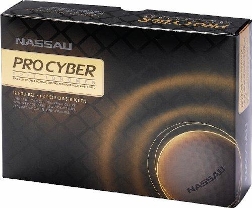 Nassau Pro Cyber golfballen | 12 stuks | Wit | 3-piece