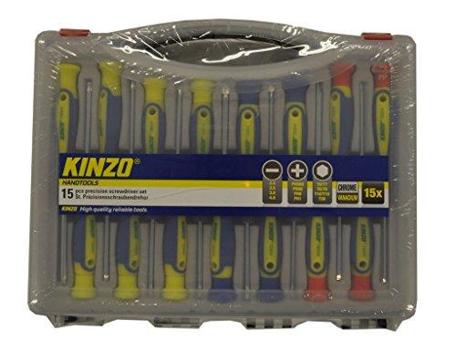 Kinzo 72004 15 - Set cacciaviti di precisione, 15 pezzi