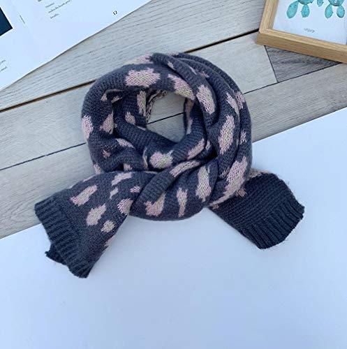 Kinderluipaardsjaal, wollen sjaal voor herfst en winter, nekhoes, wilde warme sjaal voor meisjes, baby gebreid