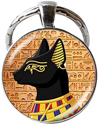 Llavero de Dioses de Gato Egipto Antiguo Egipto Joyería Arte Fotografía Joyería Regalo Festival de Cumpleaños