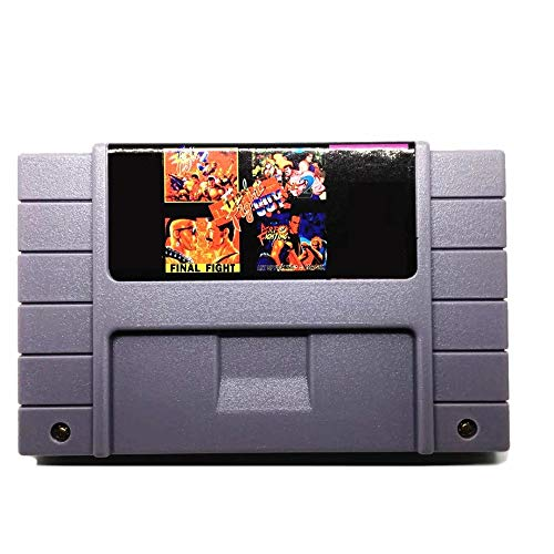 Jhana 5 in 1 Gamer, con Final Fight 1, 2 e 3, 16 bit Fighting Guy Art, versione USA, NTSC, Salva file