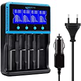 18650 Chargeur Batterie, Keenstone Chargeur de Piles Rechargeable Universel avec Grand Ecran LCD pour Batterie 18650 Ni-MH Ni-CD AA AAA Li-ION LiFePO4 IMR 10440 14500 16340 26650 26500 etc