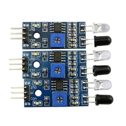 Magic&shell 3PCS IR Infrared Obstacle Avoidance Sensor Module for Arduino Raspberry PI Smart Car Robot 3.3V-5V