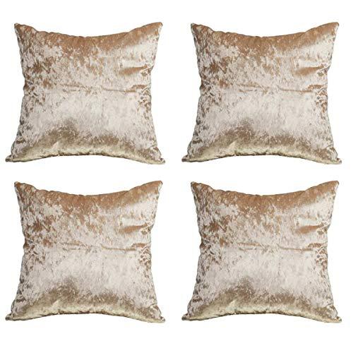 Winter 4pcs/Set Fashion Velvet Cushion Cover Pillow Cover Pillowcase Purple Champagne Black Home Decorative Sofa Throw Pillow 450 * 450mm Champagne