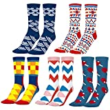 MOOKLIN ROAM 5 pares de Calcetines Estampados Colores Hombres Mujeres...