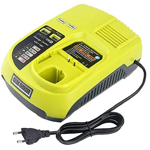 Cargador genérico de IntelliPort Battery 12V-18V Compatible con Ryobi P108 P117 Litio-Ion de litio Cargador de batería USB Estilo 1