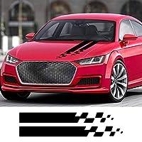 車のステッカー 2pcsカーフードカバーステッカービニールフィルムチューニングカーアクセサリー、アウディ用BMW用フォード用フォルクスワーゲン用トヨタ用ルノー用プジョー用メルセデス用