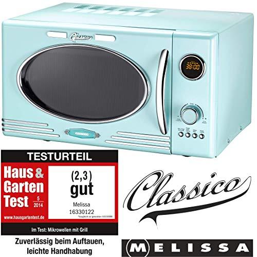 MELISSA 16330122 Microondas, Acero Inoxidable, Peppermint Blau