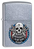 Zippo Lighter: Second Amendment is My Gun Permit - Street Chrome 80427