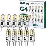 G4 LED Bulbo 1.5W AC/DC 12V, Capsule LED Equivalente a 20W Bombillas Halógenas, Blanco Cálido...