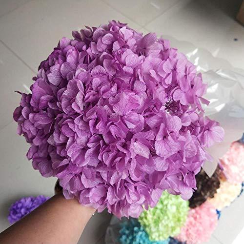 YYCVVH Flores Artificiales Exterior Hortensia-Rosa púrpura Decoración del Hogar, Ramos, Manualidades, Regalos, Decoraciones De Bodas 5 Palos