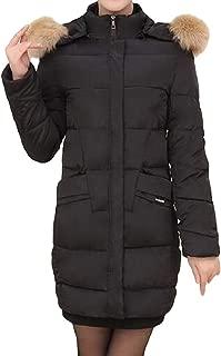 Women's Warm Thicken Slim Fit Coat with Faux Long Sleeve Hood Slim Fit Overcoats Outwear Tops