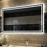 Duschdeluxe Badspiegel Lichtspiegel 100 x 60 cm LED Spiegel Wandspiegel
