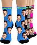 Custom Face Socks - Print Your Picture, Photo - Best Personalized Funny Crew Sock Gifts for Men Women