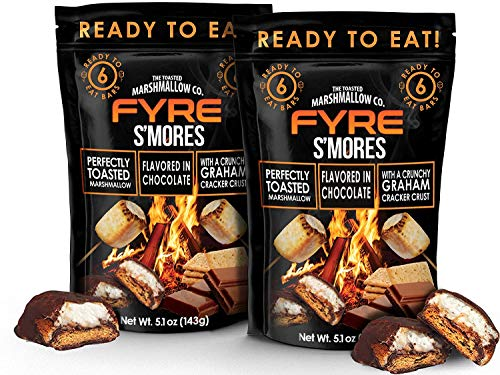 Gourmet Smores! Ready to Eat Handcrafted Milk Chocolate, Graham Cracker, Burnt Marshmallow Candy. S'more Cookie Bars (No need for Smores Maker Kit, Caddy, Sticks or Fire Pit) 2 6-Packs - 12 Smores
