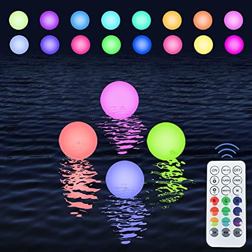 Floating Pool Lights 16 Colors Waterproof Hanging Pond LED Ball Lights Hot...