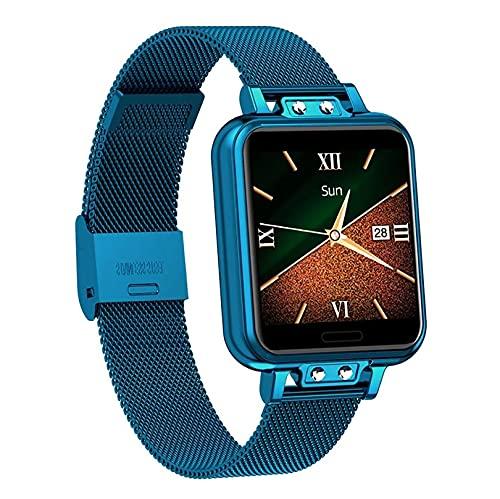 ZGZYL ZL13 Señoras Reloj Inteligente con Presión Arterial Monitoreo De Frecuencia Cardíaca Rastreador De Fitness Bluetooth Smart Watch Pedómetro Reloj Deportivo Impermeable,D