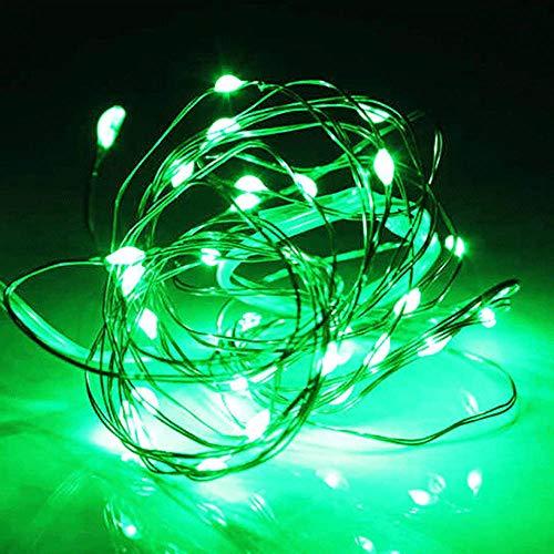 (2 stuks) afstandsbediening solar koperen lichtsnoer, feestelijke tuinsfeer decoratieve snaar, waterdicht snaar-groen licht_40 meter 400 lampjes