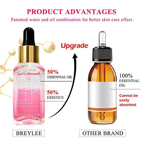514JDrEAnlL - Rose Facial Serum, BREYLEE Firming Facial Oils with Hyaluronic Acid Anti-Aging Serum for Moisturizing Nourishing Face Skin Care (17ml, 0.61oz)
