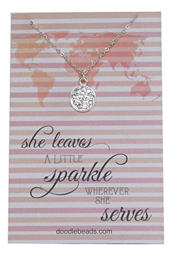 Sister Missionary Necklace - She Leaves A Little Sparkle, 16'-17' Adjustable Chain