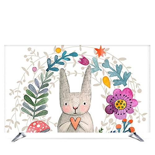 Funda Tv Exterior Cubierta de TV PROTECTOR DE PROTECCIÓN DEL SOL PROTECTOR DE MONITOR DE PERSONAS PARA LA PARED COLGANTE DE ESCRUCARIO CURVADO TIPO DE PANTALLA Tela suave Artesanía Funda Television Ex