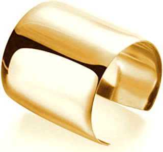 High Polished Stainless Steel Wide Cuff Bracelet Bangle Women's Fashion Jewelry