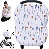 Hicoco Baby Car Seat Covers, Nursing Covers, Carseat Canopy, Privacy Breastfeeding Cover (Colourful Arrows)