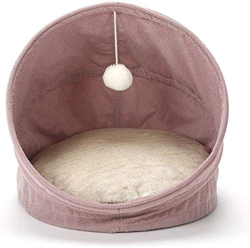 YLCJ Hondenbed, opvouwbaar, kattenbak, 2-in-1, nestje, huisdierbed, antislip, slaapzak, comfortabel, afneembaar, voor huisdierbed, kussens