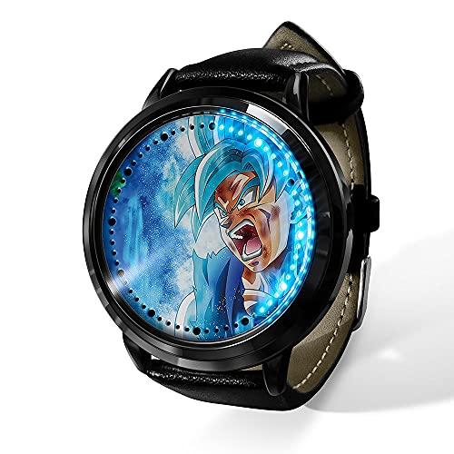 Anime Dragon Ball Saiyan Sun Wukong LED Reloj impermeable pantalla táctil digital luz reloj unisex Cosplay Props regalo New-09_F